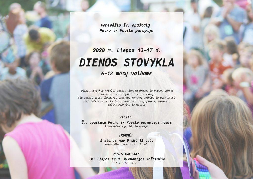 Vaikų dienos stovykla plakatas