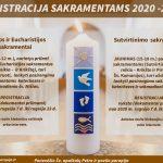 Registracija Sutvirtinimo ir Komunijos sakramentams 2021-2022 metams!